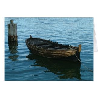 barco de madera 523 tarjeta de felicitación