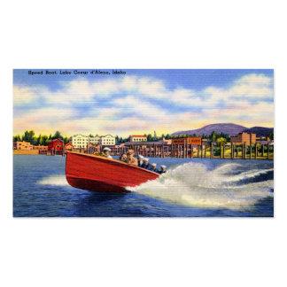 Barco de madera de la velocidad en el d'Alene de Tarjetas De Visita