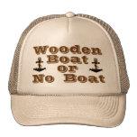 Barco de madera o ningún gorra del barco