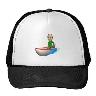 Barco de motor 2 gorras