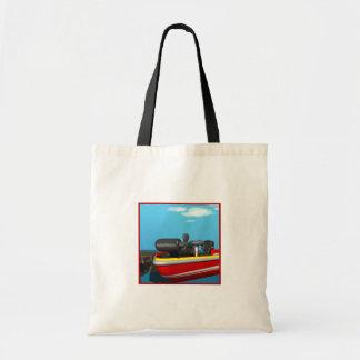 Barco de motor bolsas lienzo