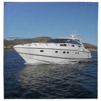 Barco de motor de lujo servilletas