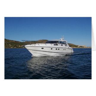 Barco de motor de lujo tarjeta de felicitación