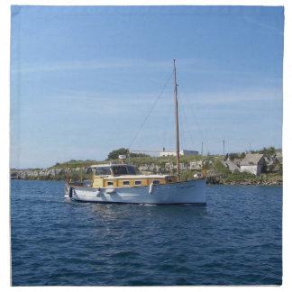 Barco de motor de Menorcan Servilletas