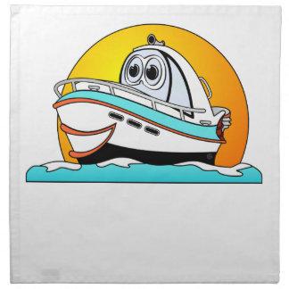 Barco de motor del Caribe del dibujo animado Servilletas Imprimidas