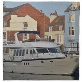 Barco de motor en Weymouth Servilleta