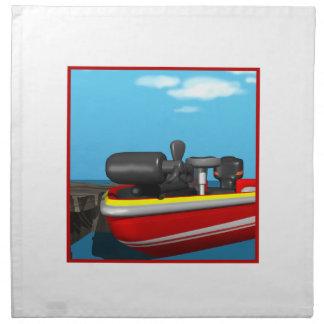 Barco de motor servilletas