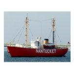 Barco de Nantucket mA Cape Cod en postal del puert
