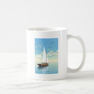 Barco de navegación - 3D rinden Taza