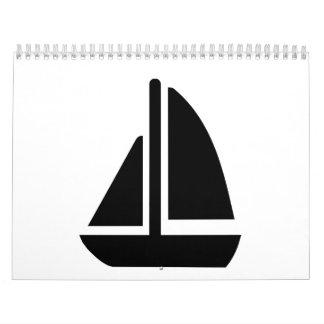 Barco de navegación calendarios de pared