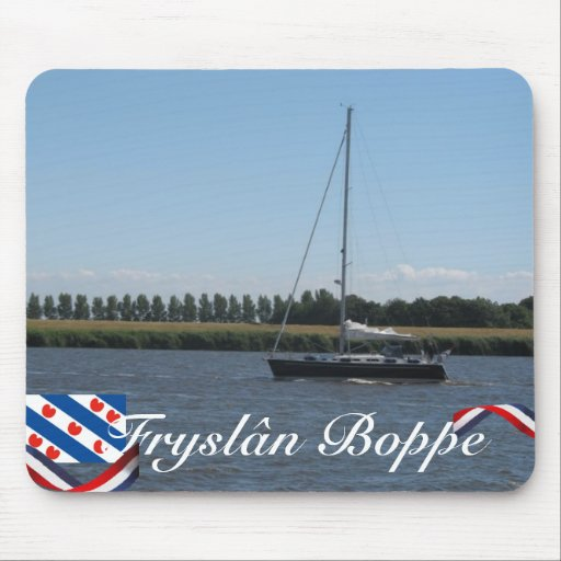 Barco de navegación de Fryslân Boppe IJsselmeer Mo Mouse Pads