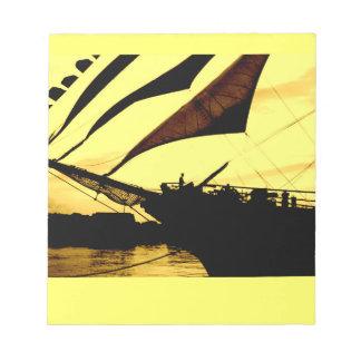 """Barco de navegación en 5,5"""" x 6"""" libreta - 40 libretas para notas"""