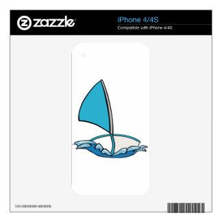 Barco de navegación lindo calcomanía para iPhone 4S