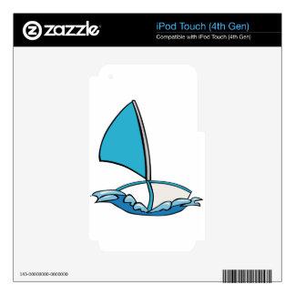 Barco de navegación lindo calcomanías para iPod touch 4G