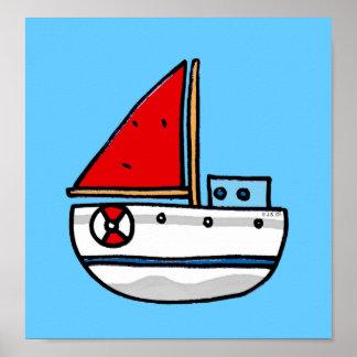 barco de navegación posters