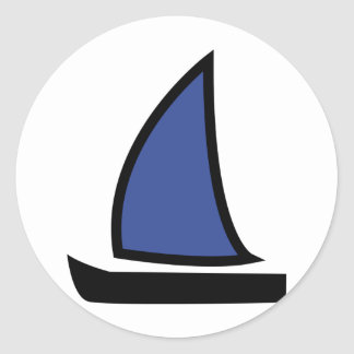 barco de navegación pegatina redonda