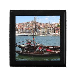 Barco de Oporto Offley, Portugal Joyero Cuadrado Pequeño