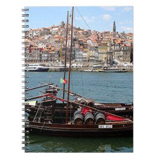 Barco de Oporto Offley, Portugal Libros De Apuntes Con Espiral