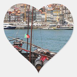 Barco de Oporto Offley, Portugal Pegatina En Forma De Corazón