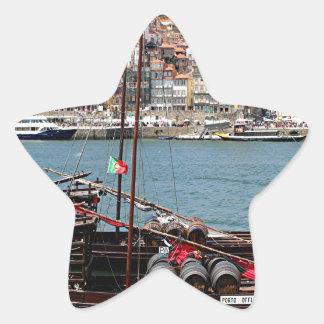 Barco de Oporto Offley, Portugal Pegatina En Forma De Estrella