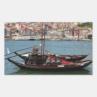 Barco de Oporto Offley, Portugal Pegatina Rectangular