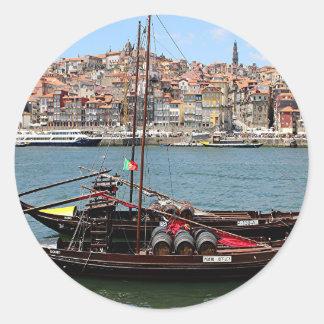 Barco de Oporto Offley, Portugal Pegatina Redonda