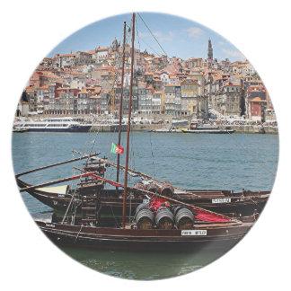 Barco de Oporto Offley, Portugal Plato De Cena