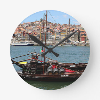 Barco de Oporto Offley, Portugal Reloj Redondo Mediano