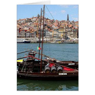 Barco de Oporto Offley, Portugal Tarjeta De Felicitación