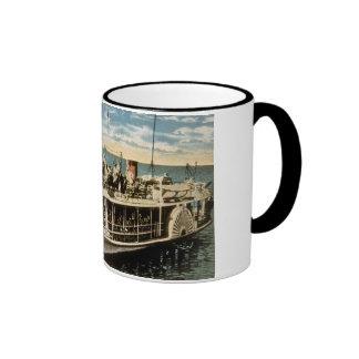 Barco de parte inferior de cristal Avalon isla d Tazas De Café