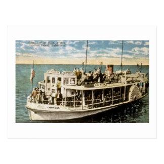Barco de parte inferior de cristal, Avalon, isla Tarjeta Postal