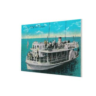 Barco de parte inferior de cristal en Avalon, isla Impresión En Lona