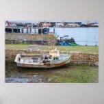 Barco de pesca abandonado impresiones