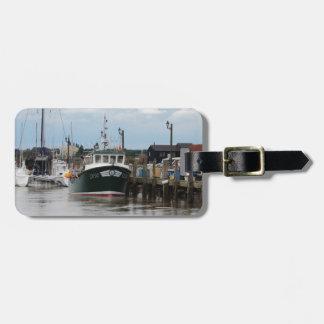 Barco de pesca Avril subió Etiquetas Bolsa