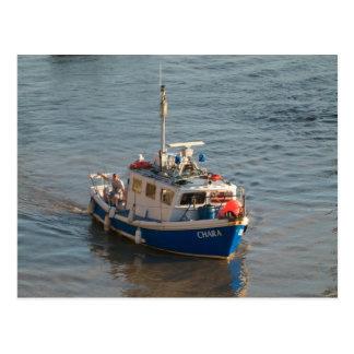 Barco de pesca, bahía de Cardiff Postales