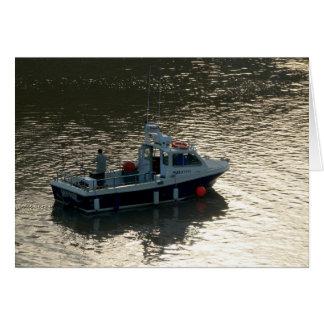 Barco de pesca, bahía de Cardiff Tarjeta De Felicitación