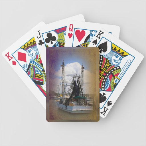 Barco de pesca barajas de cartas