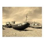Barco de pesca clásico postal