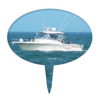 Barco de pesca de la carta figura de tarta