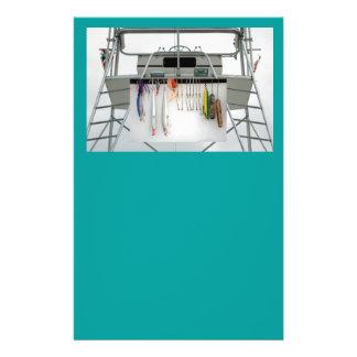 barco de pesca de la carta tarjetas publicitarias