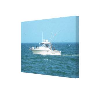 Barco de pesca de la carta impresion de lienzo