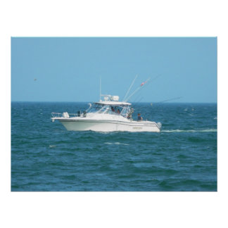 Barco de pesca de la carta impresiones
