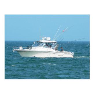 Barco de pesca de la carta postal