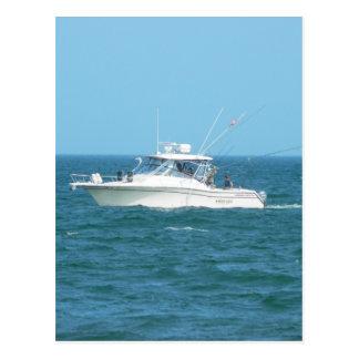 Barco de pesca de la carta postales