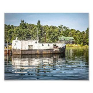 Barco de pesca de la isla de Washington Fotografía