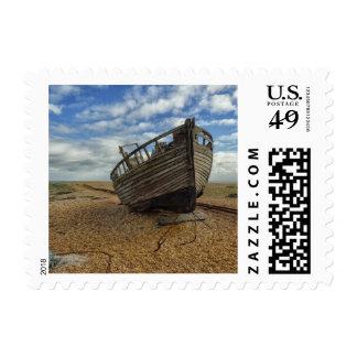Barco de pesca de madera abandonado el | Dungeness Sellos Postales
