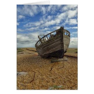 Barco de pesca de madera abandonado el | Dungeness Tarjeta De Felicitación