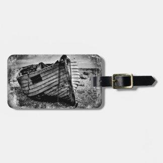 Barco de pesca del vintage etiquetas bolsa