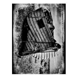 Barco de pesca del vintage postal