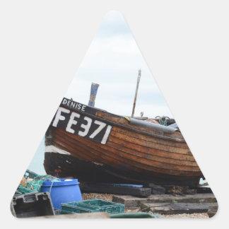 Barco de pesca Dionisia Pegatina Triangular